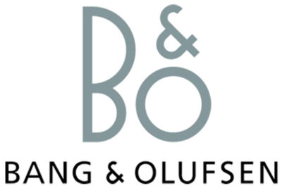 B&O (Bang & Olufsen, high-end televisions, sound systems, and loudspeakers)